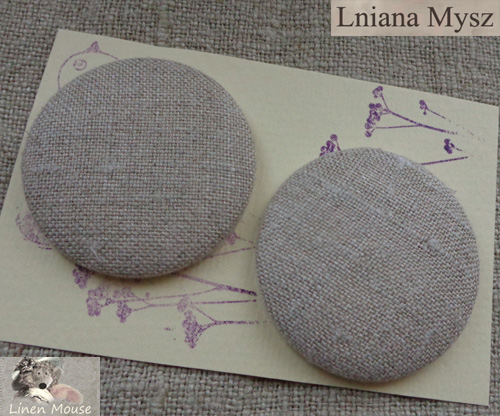 LNIANE GUZIKI HANDMADE LINEN COVERED BUTTONS